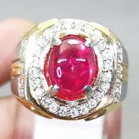 Batu Ruby Pink Merah Muda Natural