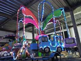 mainan anak kereta komedi putar safari full lampu hias TERBARU 11