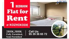 1 Bedroom semi/fully furnished flat for rent in Calicut.
