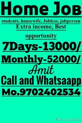 Good job good earning weekly salary 13000