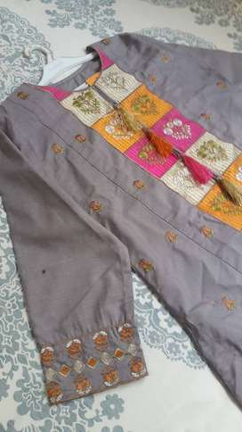 Embroidered Party Wear Cotton Kurti for Girls/Women