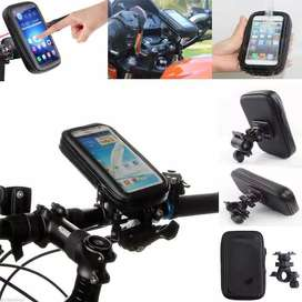 HOLDER HP SEPEDA DAN MOTOR MAKS 6.3 INCH WATERPROOF RESTLETING