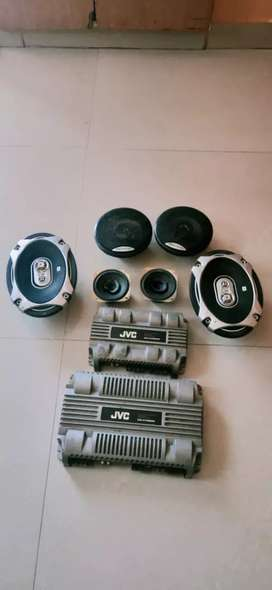 Car speakers with amp