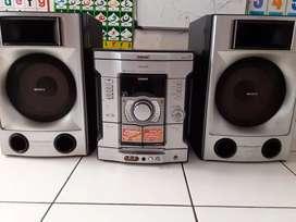Sony 2200 wtt pmpo+spiker 8 inc,suara bas empuk,hnya radio dan ke hp