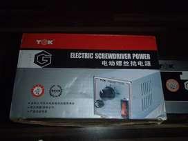1 set obeng elektrik + adaptor seken mantap
