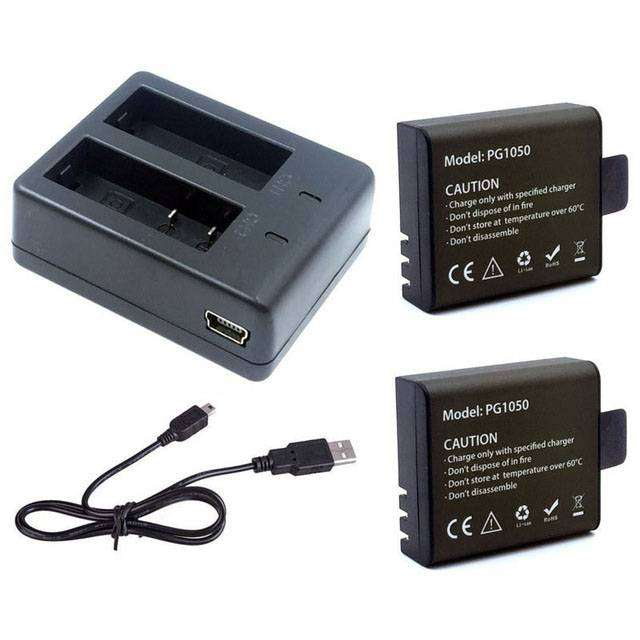 Baterai EKEN H9 H9R H8PRO H8R SJCAM SJ4000 Plus Charger 0