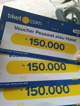 Voucher tiket pesawat dan hotel