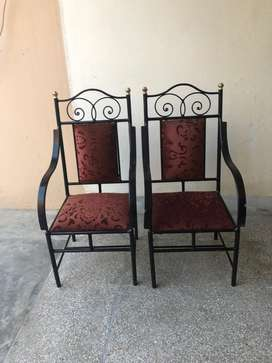 2 Wrought Iron coffee Chairs