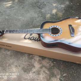 Gitar akustik elektrik gitar jumbo bonus tas kabel jak bro