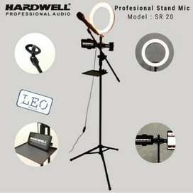 Hardwell Ring Light LED plus stand mic and phone stand