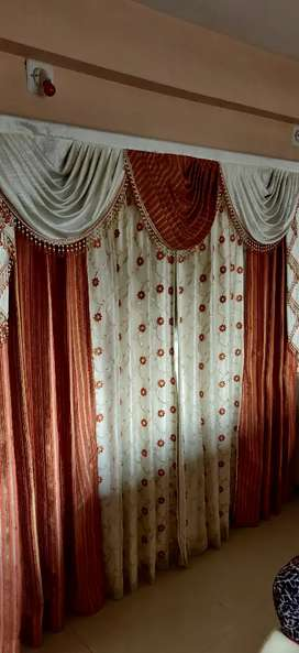 Modern curtain with hanging rod