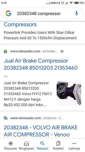 Air compressor volvo