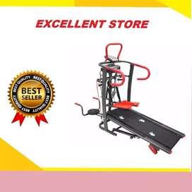 treadmill manual 6 fungsi EX-579 treadmil alat fitnes
