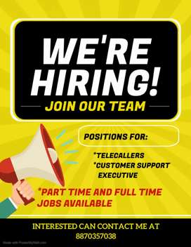 Wanted Part time Employees for our FMCG company.