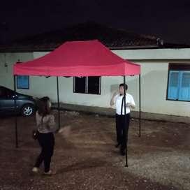 Tenda lipat mudah di bawa bawa 2x3meter . Ready stock palembang.