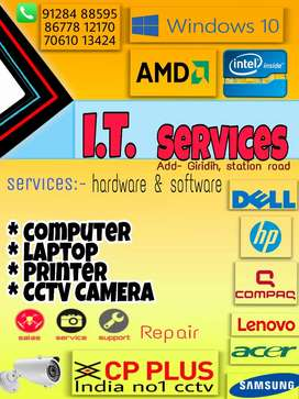 IT services,/ computer, laptope,Cctv camera ,printer