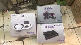 Paket audio venom, power, subwofer, spiker free pasang