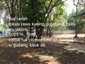 Dijual Tanah 5.025 m2 Jl Rawa Kuning Cakung @rp 5JT/m2(NEGOSIASIHALUS)