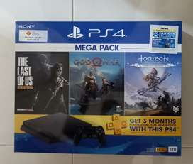 Jual Playstation 4 / PS4 Slim 1TB Mega Pack 3 (Harga Nett)