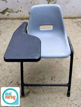 plastic chairs with steel legs and arm rest