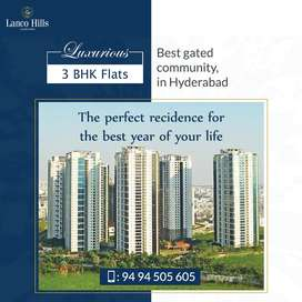 Marvellous 3 BHK Flats in 12 Hi-Rise Towers for sale In Manikonda