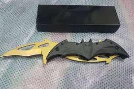 pisau batman double blade lipat