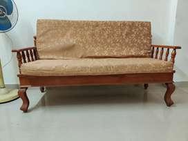 3+1+1 teak wood sofa set