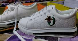 White shoes with embroidery