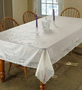 Vinyl Lace Tablecloth Protects Tablecover