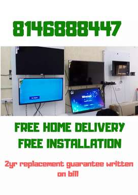All sizes LED TV available with bill 2yr replacement guarantee