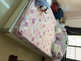 Set of 3-king size bed, 4 doors closet, double dressing table & chair