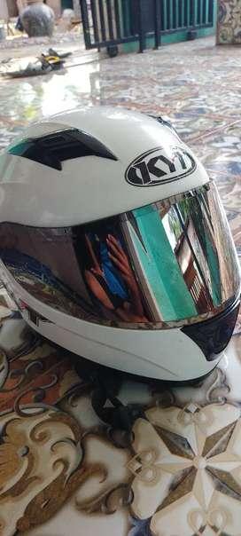 KYT R10 White visor silver