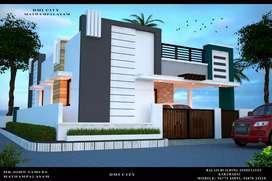 85% bank loan 2 BHK VILLA near veerapandi