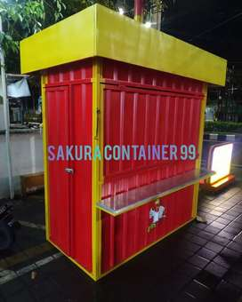 Container bazzar, booth makanan, booth chicken, booth container