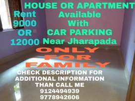 2BHK APARTMENT OR HOUSE ONLY SMALL FAMILY NEAR JHARAPADA  CANAL ROAD