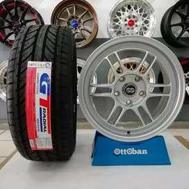 Jual paket velg rata R16+ban GT champiro GTXpro 195/50 R16.