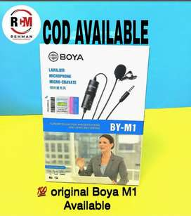 Boya by m1 coller microphone 3.5mm audio video record forandroidiPhone