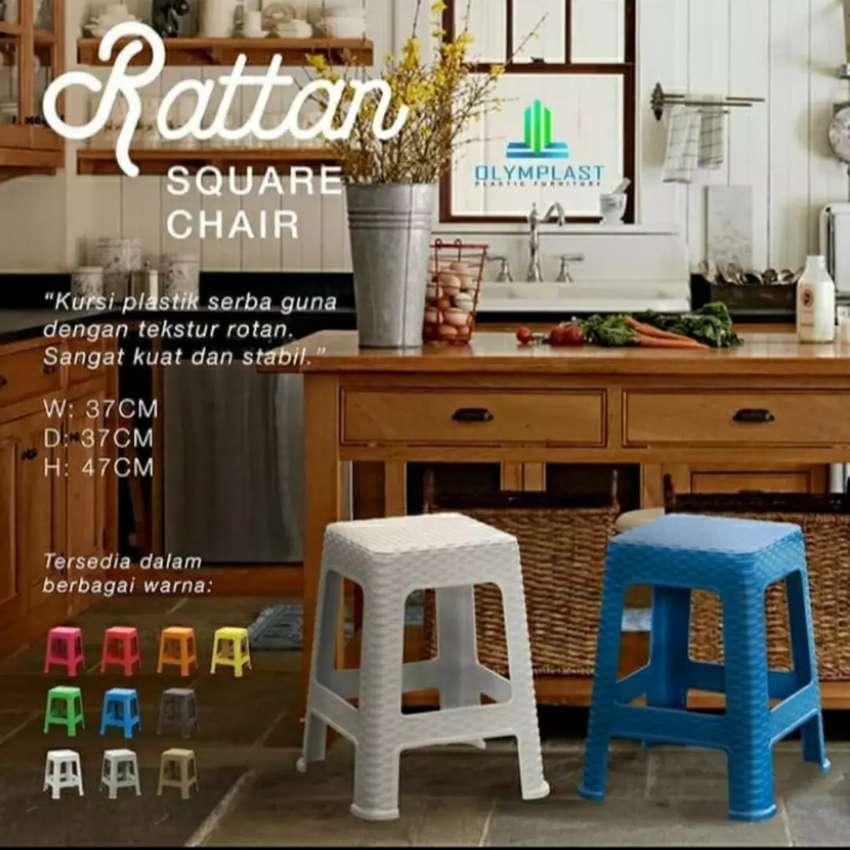 Kursi plastik rotan square chair olymplast 0
