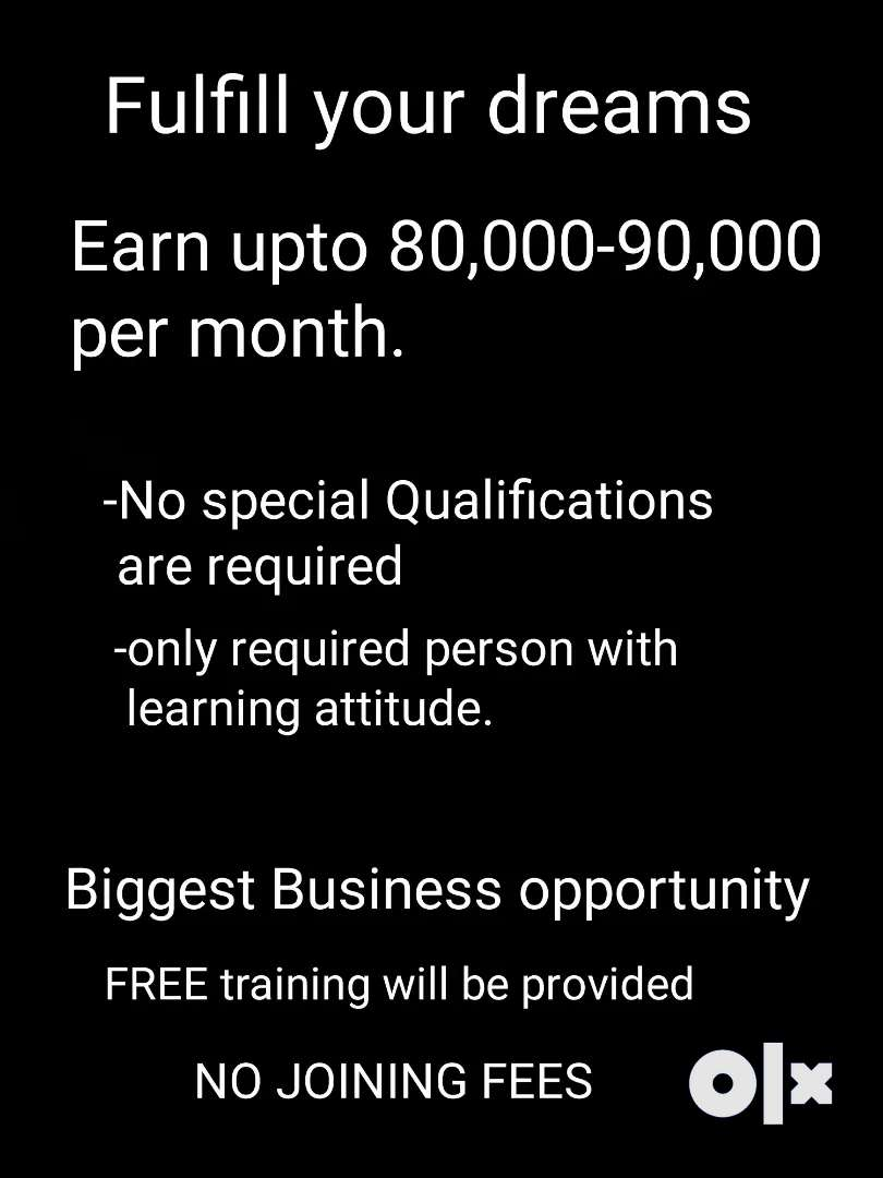 Biggest business opportunity with FREE training with NO joining FEES 0
