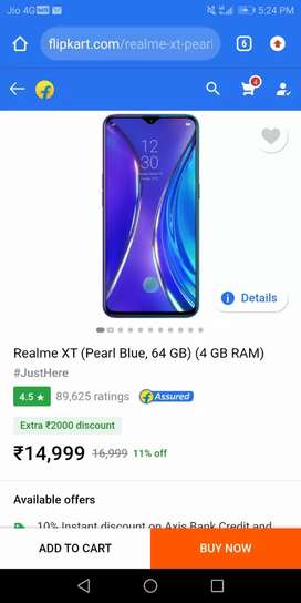 Realme XT seal pack available only 14499 4 pcs available