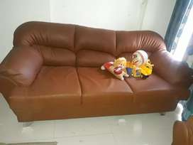 3 + 2 leather sofa very good condition 1year used.urgent sale.