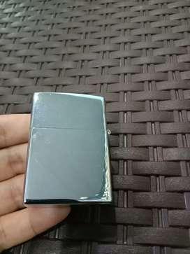 Korek Zippo polos silver chrome
