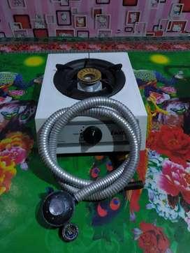 Kompor 1 mata api turbo lengkap selang regulator siap pake