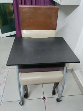 Nilkamal table and wooden chair