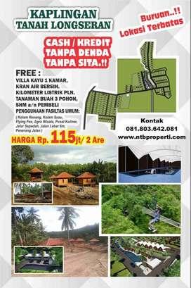 Tanah Kavling 2 Are Bonus Rumah Kayu Fasum Kolam Renang dll SHM