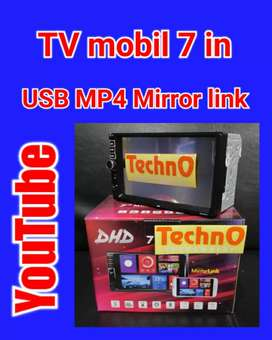 Tv dhd 7 in YouTube android sistim tape head unit for sound jok arb