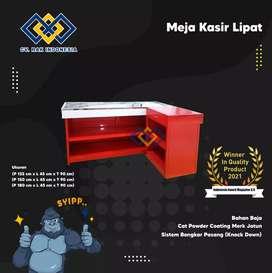 Meja kasir lipat satu satunya bahan baja