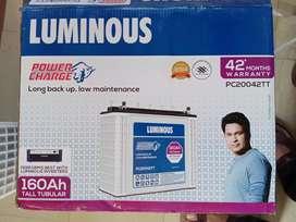 Luminous Tall Tubular Battery 160 ah 42 months warranty