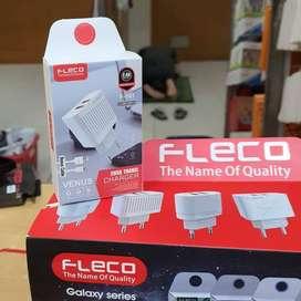 TRAVEL CHARGER FLECO F-161 DUAL USB 2.4A VENUS.