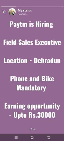 Paytm is Hiring for Field Sales Executive